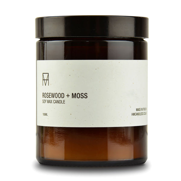 Rosewood & Moss Soy Wax Candle