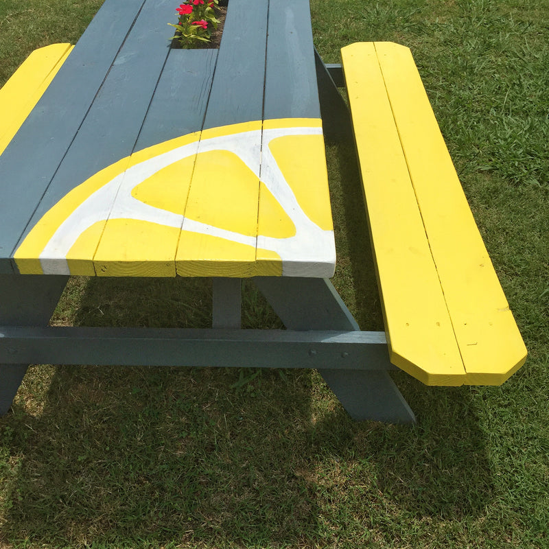 DIY Project: Colorful Painted Picnic Table