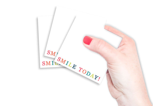 Smile Today Sticky Notes - Set of 3