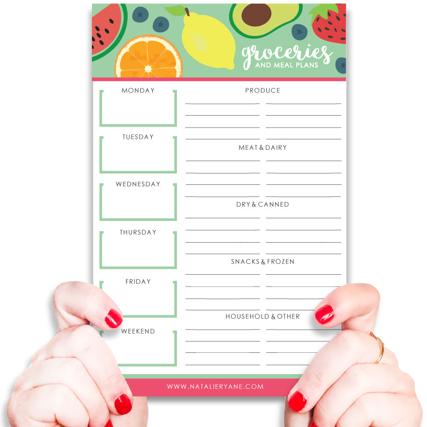 Grocery and Meal Planning Notepad