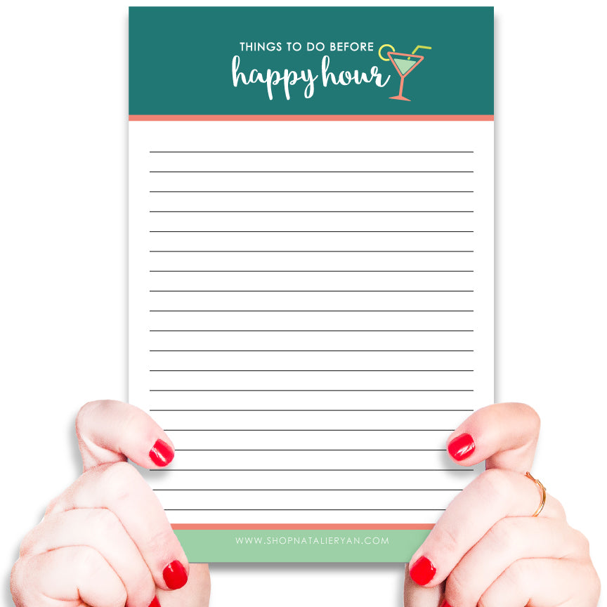 To Do Before Happy Hour Notepad