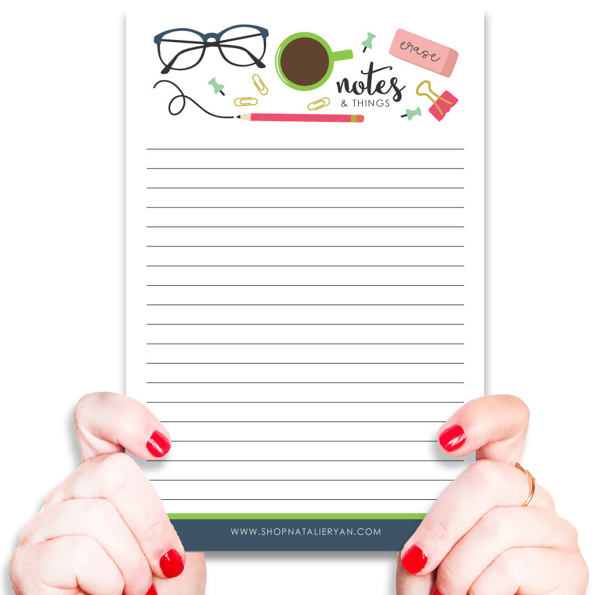 Notes and Things Office Supplies Notepad