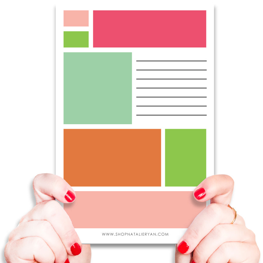 Color Blocked Notepad