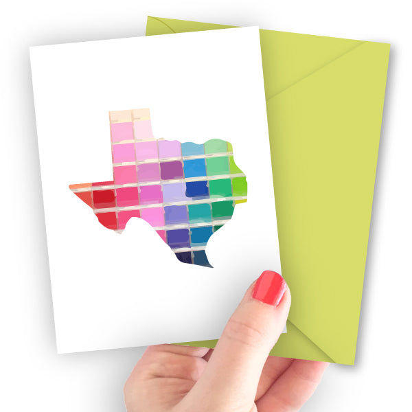 Texas Paint Swatch Note Card