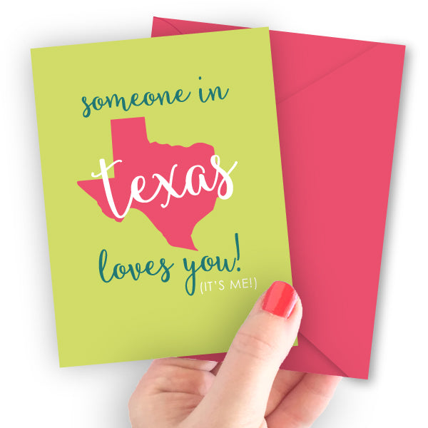 Someone in Texas Loves You Note Card