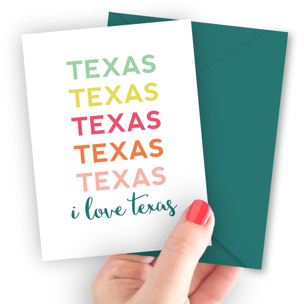 Texas Repeat Note Card