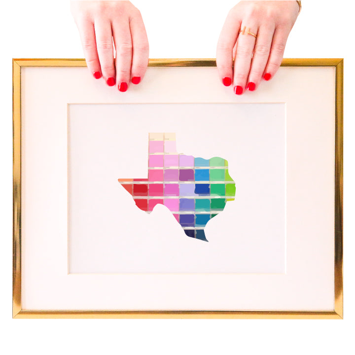 Texas Paint Swatch Wall Art