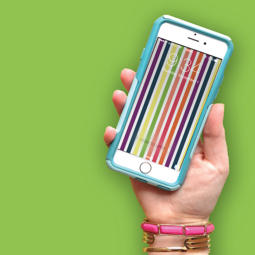 Colorful Stripe Tech Wallpaper - FREE Digital Download