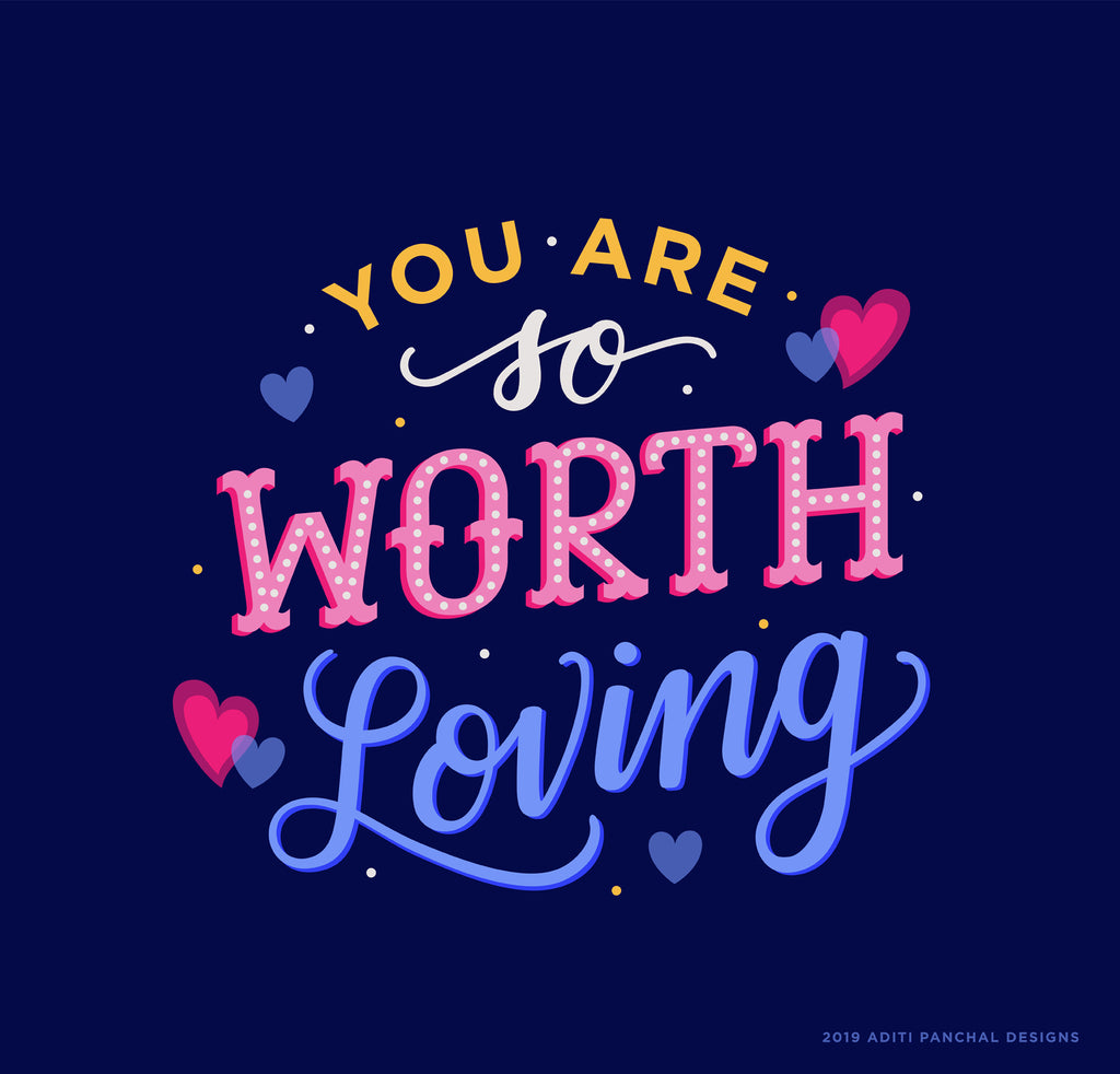 You Are So Worth Loving Phone Wallpaper - FREE Digital Download