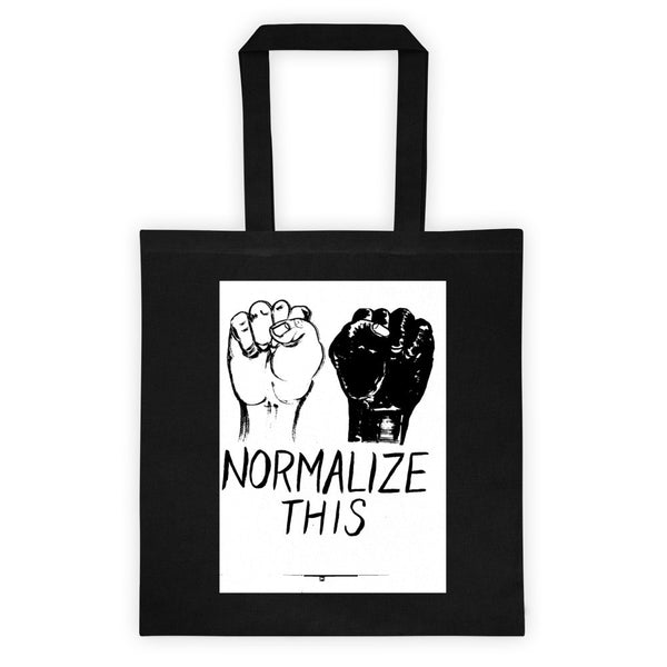 NORMALIZE THIS Tote bag
