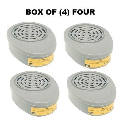 BOX OF (4) FOUR 815357MSA Advantage® Respirator Cartridges Organic Vapor/Acid