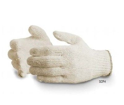 SUREKNIT 7-Gauge Extra-heavy Cotton/Polyester Safety Gloves Size Large Gardening