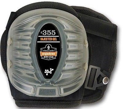 Ergodyne Black ProFlex 355 Short Cap Injected Gel Knee Pad NEW with BOX!