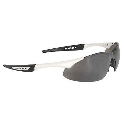 Radians Rock Safety Glasses RK4-60 - White Frame - Silver Mirror Lens NICE NEW!