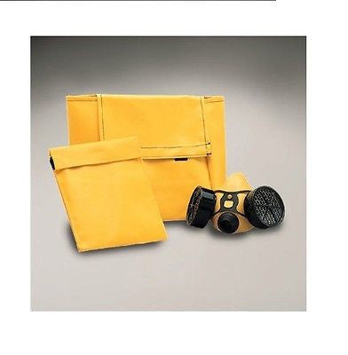 "7"" x 4"" x 9"" Yellow Vinyl Respirator & Equipment Carry Bag Holds Half Mask NEW!"