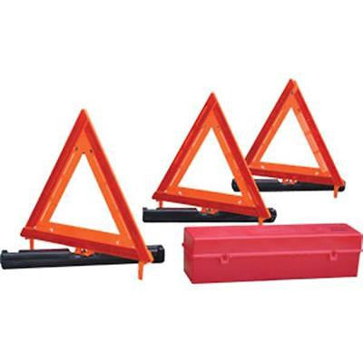 (1 Set) Emergency Distress Warning Triangle Kit w/Storage Box
