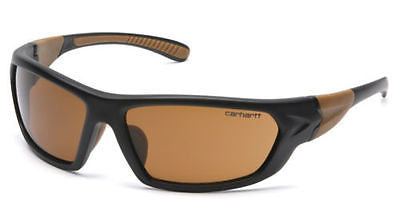 Carhartt CHB218D Carbondale Safety Glasses Black Tan Frame Sandstone Bronze Lens