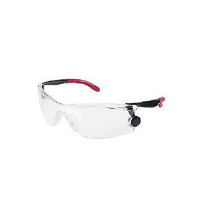 Mantis Safety Glasses  Red Black Frame Clear Lens Shooting Glasses Cycling MT110