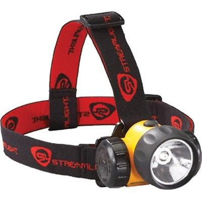 Streamlight 3 AA Cell HAZ LO 34 Lumen LED Bulb Hard Hat And Head Straps Headlamp