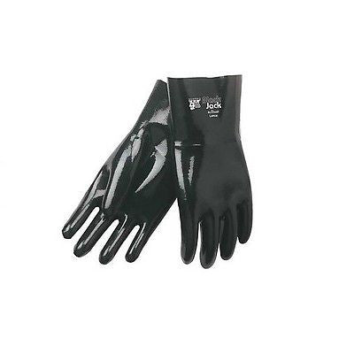 "Black Jack Neoprene Work Gloves Fully-Coated, Smooth Finish 14"" NEW IN BAG!"