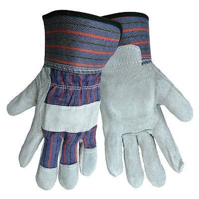 (1 Pair) Economy Reinforced Split Leather Palm Work Glove