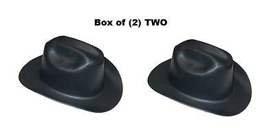 BOX of (2) TWO Cowboy Hard Hats Western Outlaw Black Hard Hats 17330 NEW IN BOX!