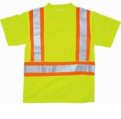 ML Kishigo 9120 Class 2 T-Shirt with Flat Stitch Panels Yellow/Lime SIZE Large