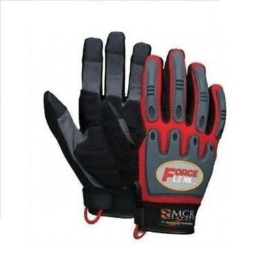 MCR ZB100 sz XLARGE FORCEFLEX ZOOMBANG MECHANICS GLOVES RED (1 PAIR) NEW w/TAGS!