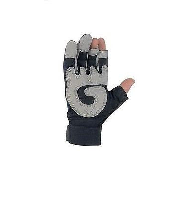 Fasguard™ 902 3 Fingerless Multi-Purpose Mechanics Gloves Sizes,Med,L,XL NEW!