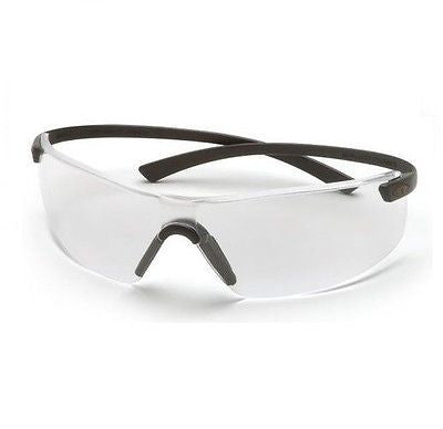 PYRAMEX MONTEGO SAFETY GLASSES CLEAR LENS BLACK FRAME SB5310S NEW