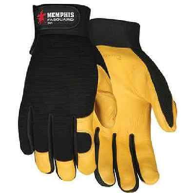 Fasguard™ Deerskin Leather Palm Multi-Purpose Mechanic Gloves SZ LARGE NEW