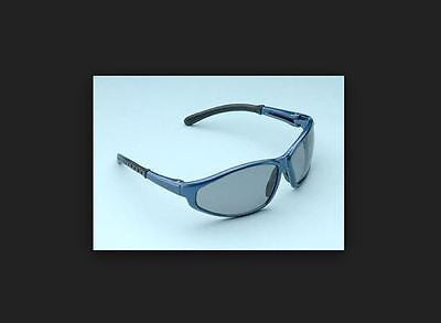 ELVEX CORP Polarized Z87+ Safety Glasses Style SG-35 Blue Frame Indoor / Outdoor