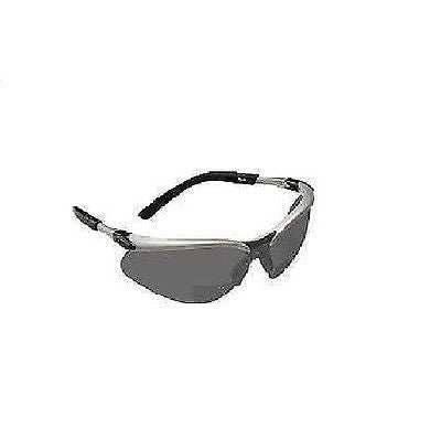 3M BX Reader Safety Eyewear Eyeglasses Silver/Black Frame, Gray Anti-Fog Lens!