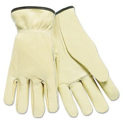 1 Pair Memphis Full Leather Pig Driver Safety Gloves - 3200L Brand New Gardening