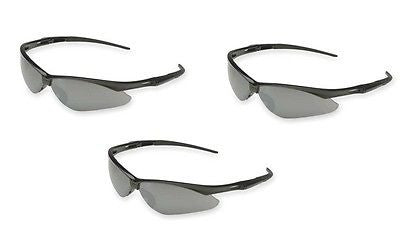3 THREE PAIRS Jackson™ V30 Nemesis Safety Glasses BLACK/SMOKE MIRROR LENS 25688