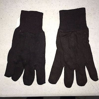 (1 Pair) 7OZ Black Cotton Gardening Gloves C70BJ