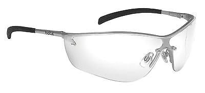 Bolle Silium Safety Glasses Silver Frame Clear Lens 40073 z87