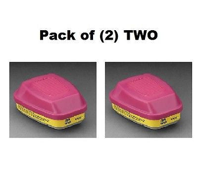 3M 60923 ORGANIC VAPOR ACID GAS P100 CARTRIDGES PK OF 2