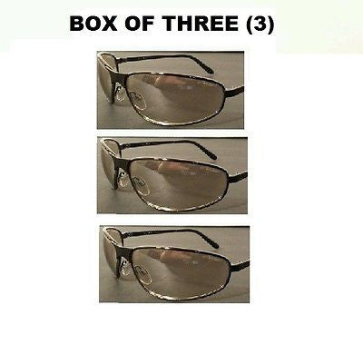BOX OF (3) TOMCAT CLEAR MIRROR LENS SAFETY GLASSES METAL FRAME Z87 UVEX S2454