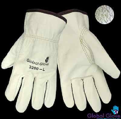 Global Glove 3200 Cow Grain Leather Split Driver Glove SZ SMALL (1 DOZEN)