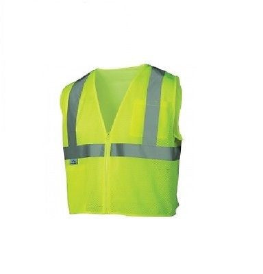 Pyramex RVZ2110 Class 2 Mesh Safety Vest - Yellow/Lime NEW IN BAG SIZE LARGE!