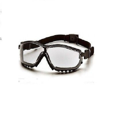Pyramex V2G Safety Glasses, Clear AF Lens, Black GB1810ST Hybrid Cycling Running