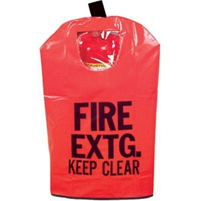 "RED Fire Extinguisher Cover with Window, Medium 25"" x 16 1/2"" NEW!"