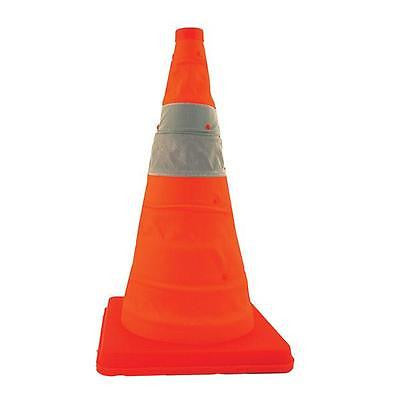 PACK OF 4 New 17 Inch Lighted Collapsible Traffic Safety Cones  NEW! LOW PRICE