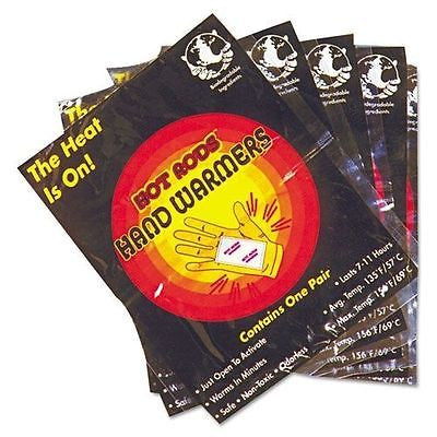 FIVE (5) PACKS OccuNomix Hot Rods Hand Warmers for outdoor events 110010R NEW!