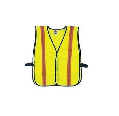 Ergodyne GLOWEAR® 8030HL Non-Certified Vests Lime Yellow reflective stripes new