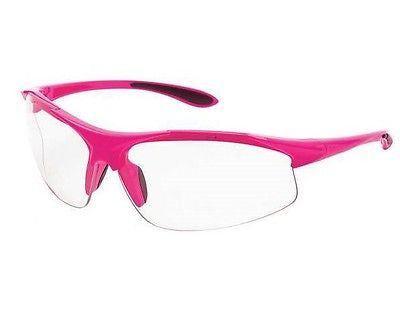 Woman's ERB Ella PINK Safety Shooting Glasses CLEAR LENS Pink Frame NEW! 18618