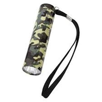 Rothco Single LED Flashlight WOODLAND CAMO (uses 3 AAA) Item 877