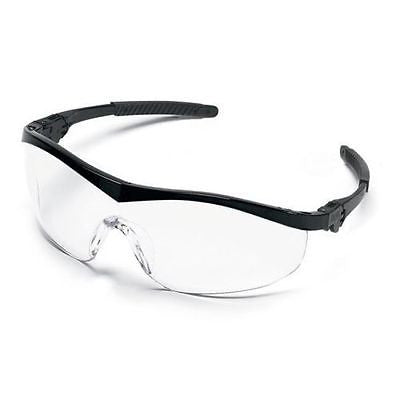 MCR Crews Safety Glasses Black Nylon Frame Clear Lens Altchem Demrex New in Bag!