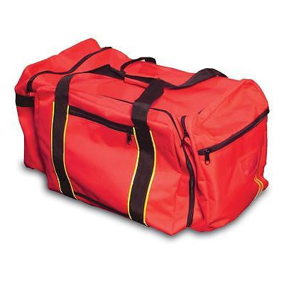 LARGE RED PPE GEAR BAG W/ REFLECTIVE STRIPES EQUIPMENT DUFFEL BAG NEW * JUST IN